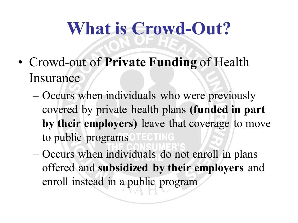 What is Crowd-Out Crowd-out of Private Funding of Health Insurance