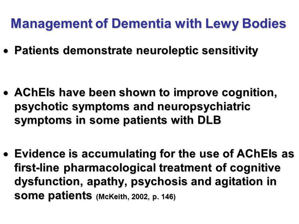 Management of Dementia with Lewy Bodies