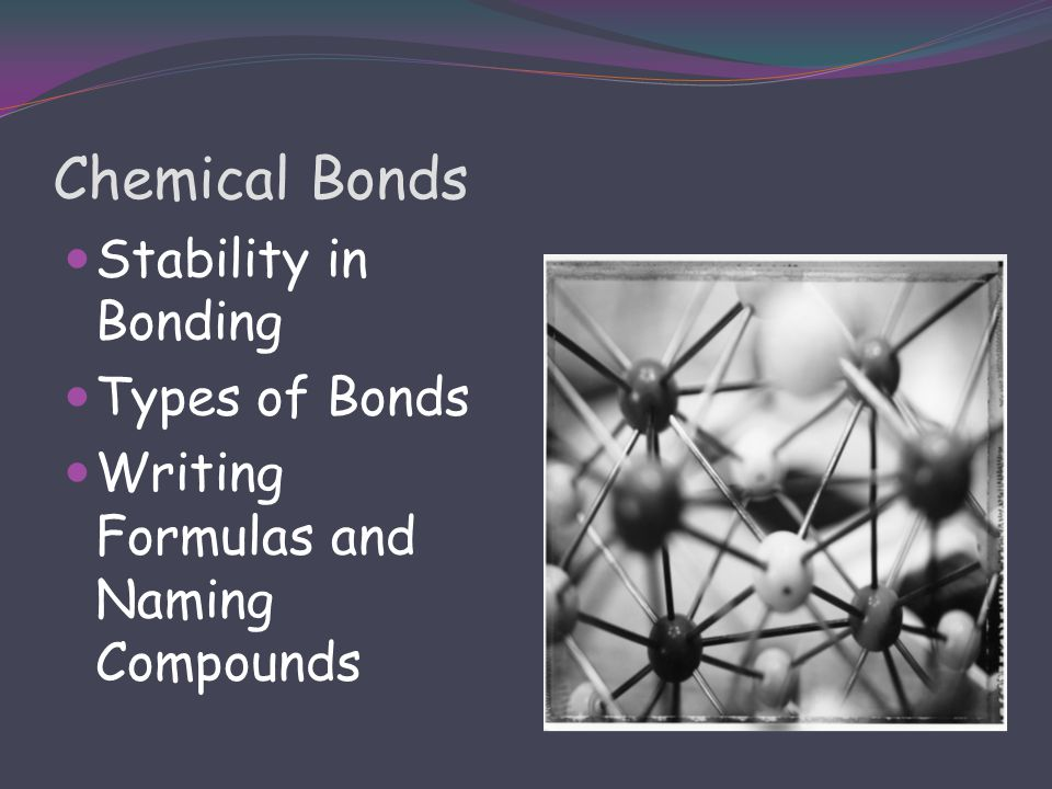 Chemical Bonds Stability in Bonding Types of Bonds