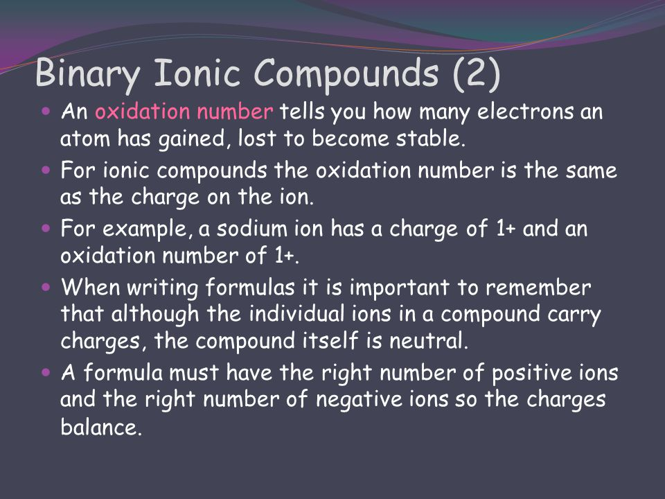 Binary Ionic Compounds (2)