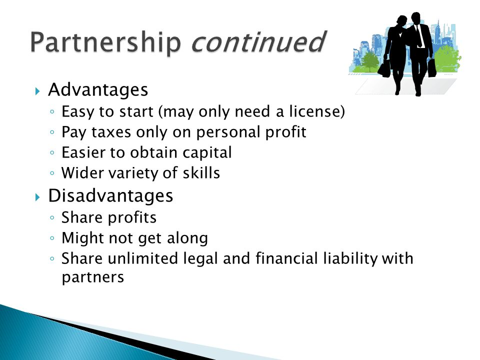 Partnership continued
