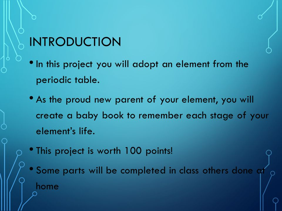 Element Baby Book Project Ppt Video Online Download