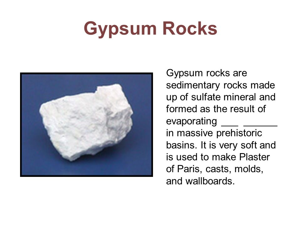 Gypsum Rocks