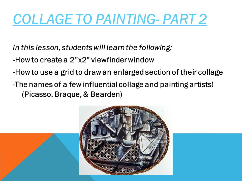 COLLAGE TO PAINTING- PART 2