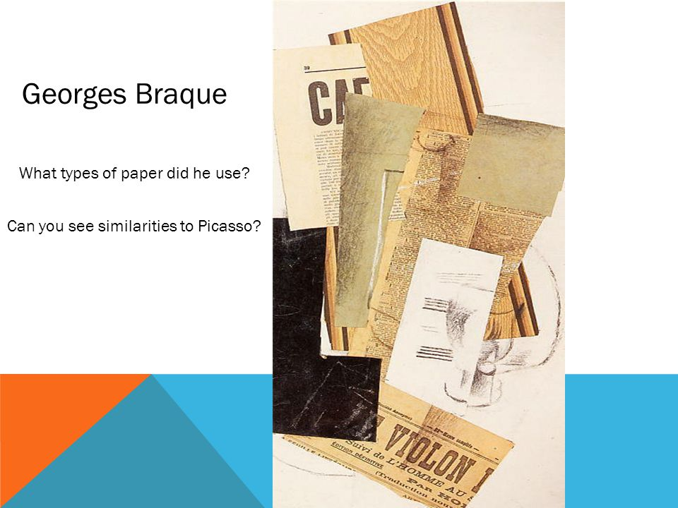 Georges Braque What types of paper did he use