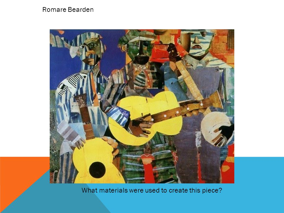 Romare Bearden What materials were used to create this piece