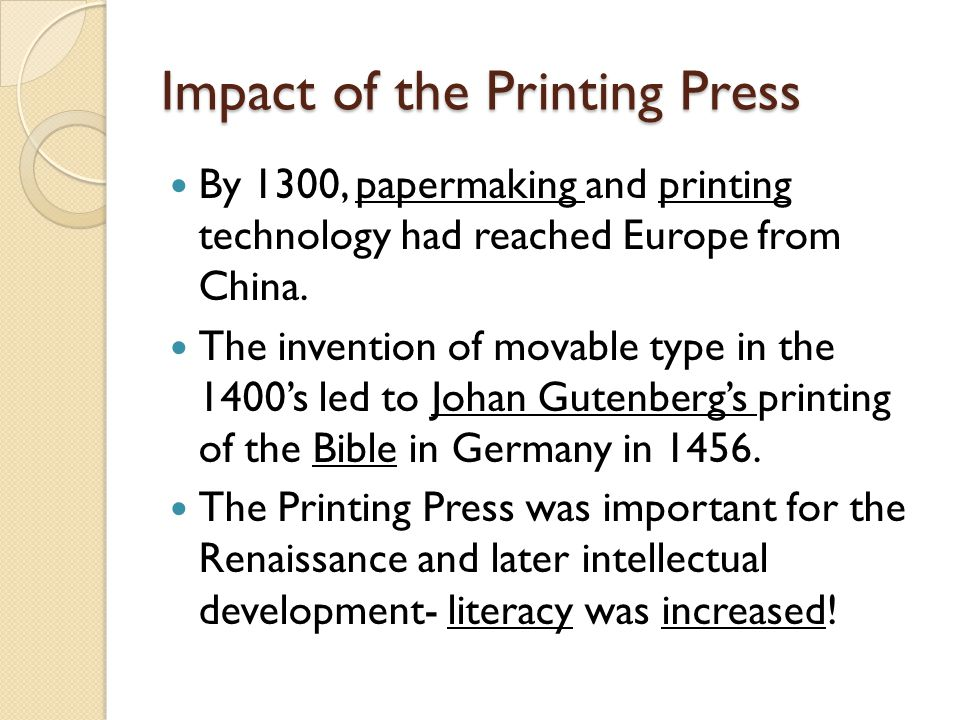 who invented the printing press during the renaissance