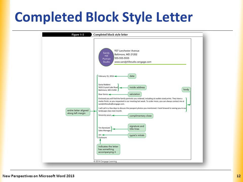 Word tutorial 1 creating and editing a document ppt video online completed block style letter spiritdancerdesigns Image collections