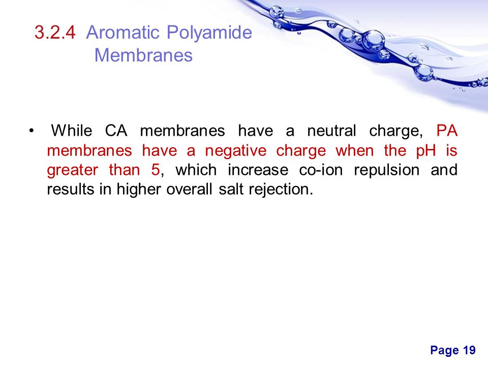 3.2.4 Aromatic Polyamide Membranes