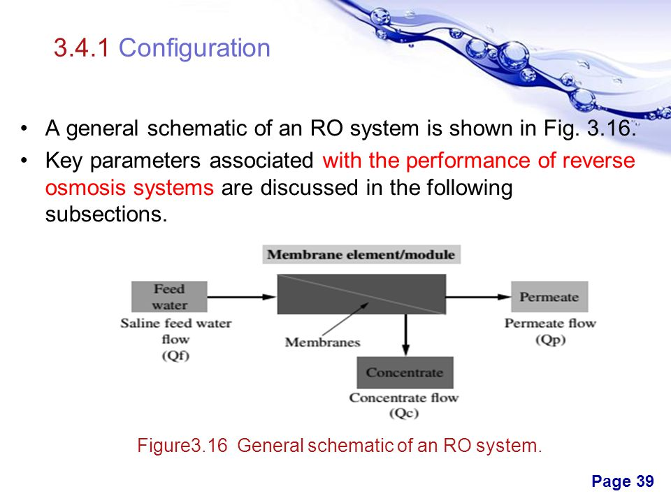 Figure3.16 General schematic of an RO system.
