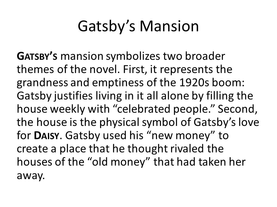 The Great Gatsby Symbols Ppt Video Online Download