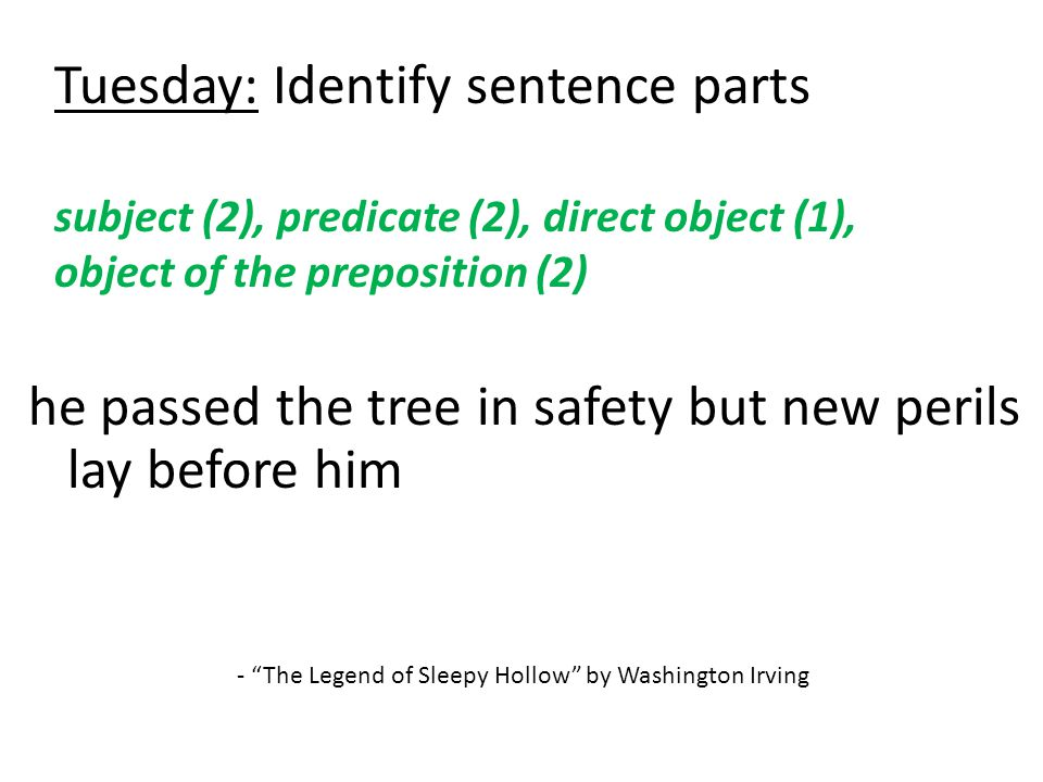 Sentence Analysis Week 3 – DGP for Pre-AP  - ppt download