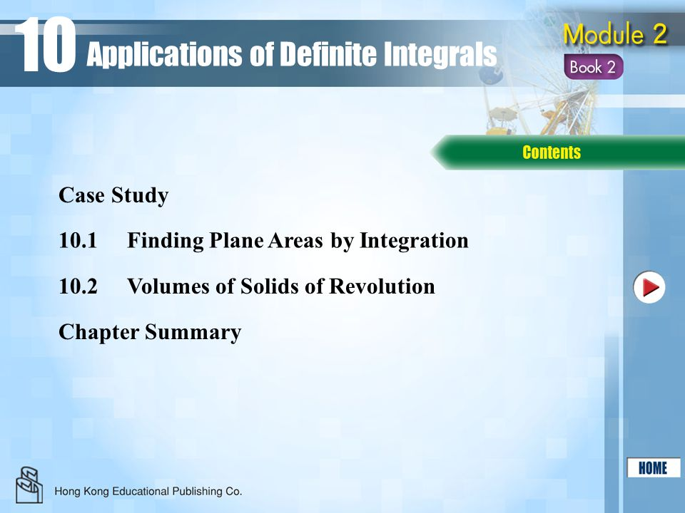 10 Applications of Definite Integrals Case Study
