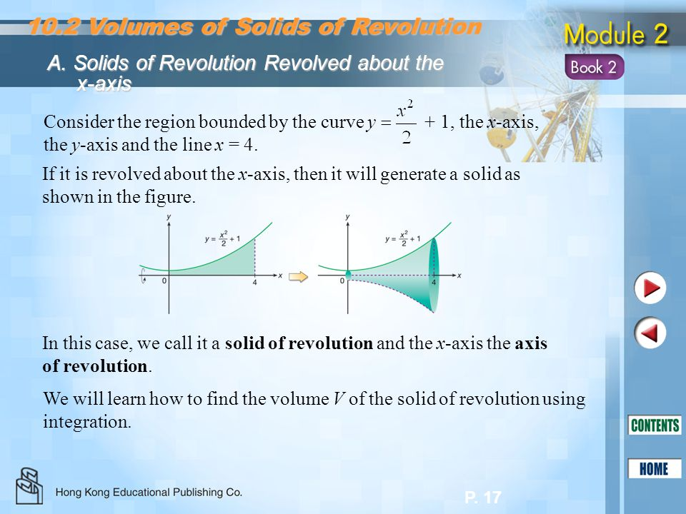 10.2 Volumes of Solids of Revolution