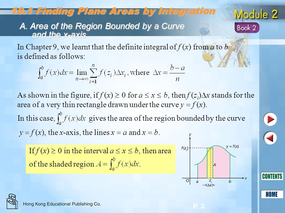 10.1 Finding Plane Areas by Integration