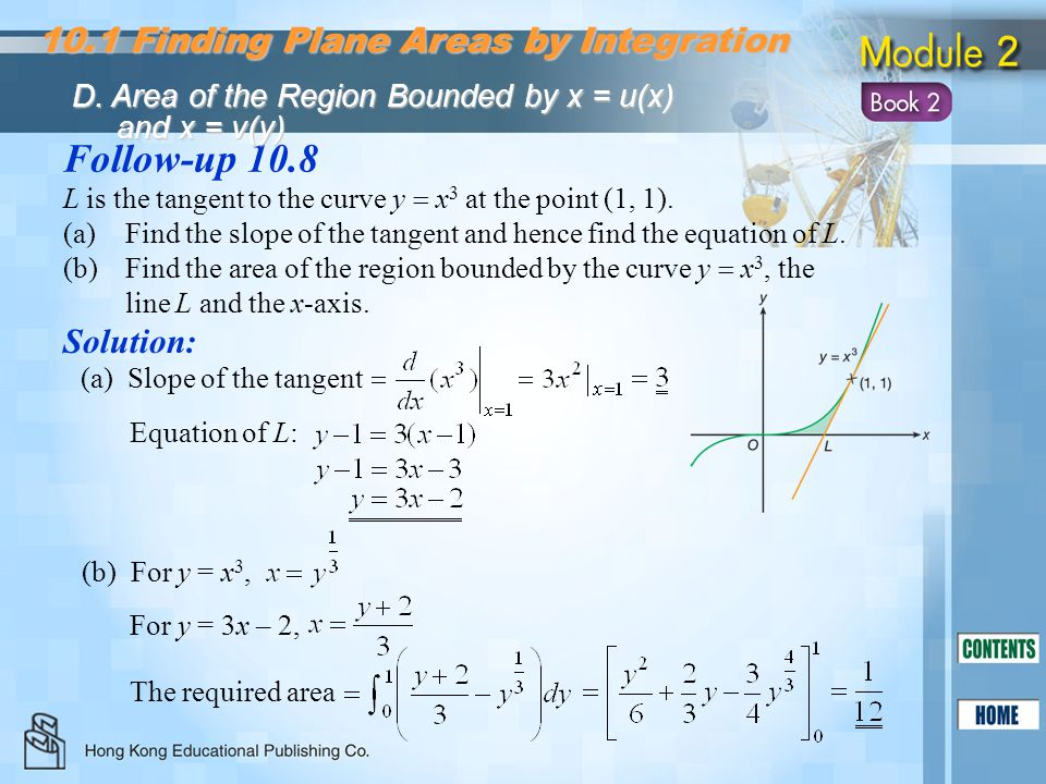 Follow-up Finding Plane Areas by Integration Solution:
