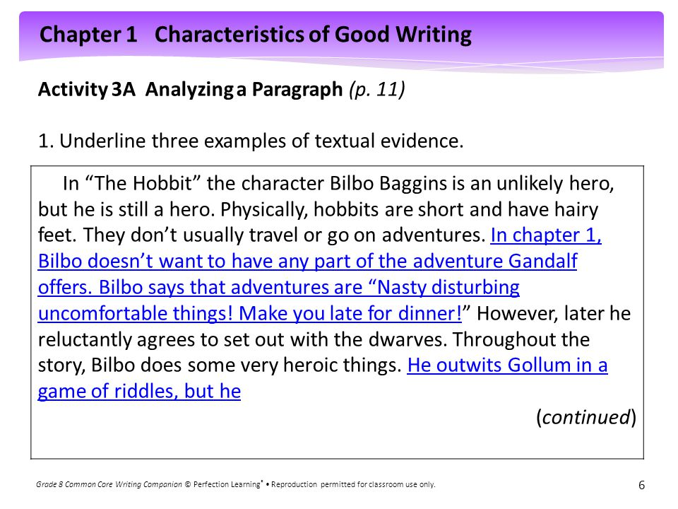 characteristics of good paragraph Bad paragraph / good paragraph: effectively developing a persuasive paragraph the paragraphs below are on the short story to hell with dying, by alice walker effective paragraphs of this type tend to share certain characteristics, outlined below.