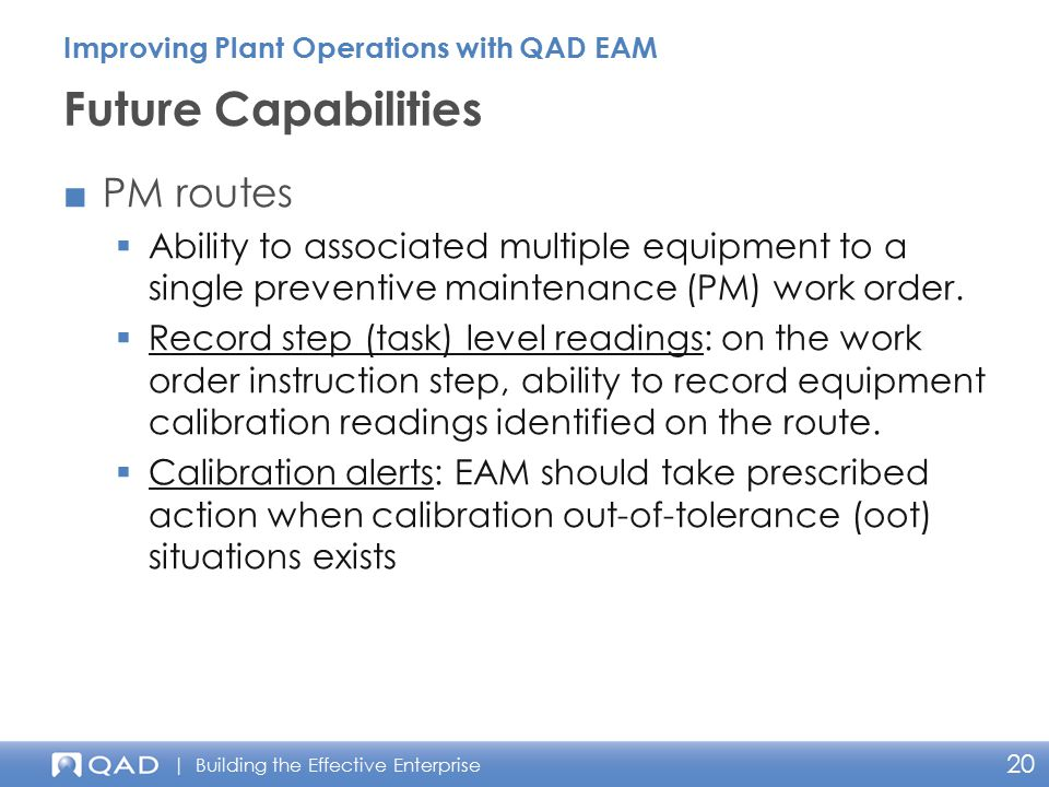 Future Capabilities PM routes