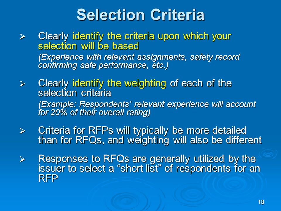 RFQ / RFP Best Practices Workshop - ppt video online download