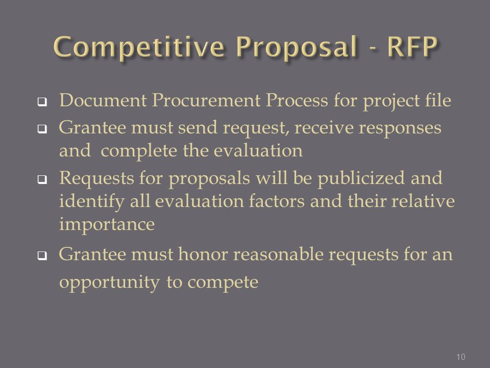 Competitive Proposal - RFP
