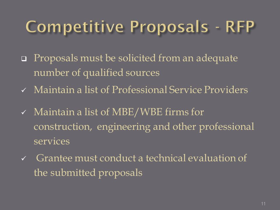 Competitive Proposals - RFP
