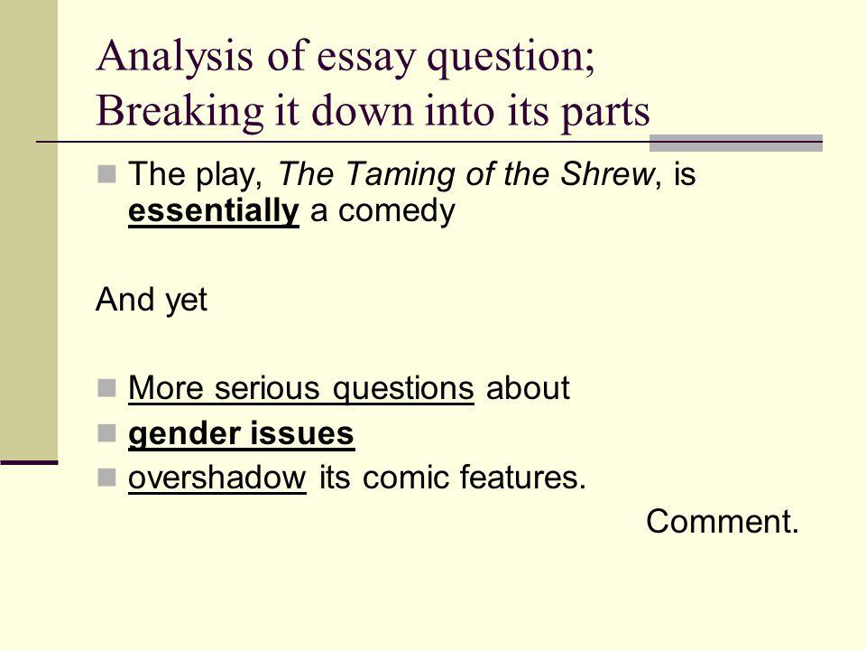 taming of the shrew essay topics