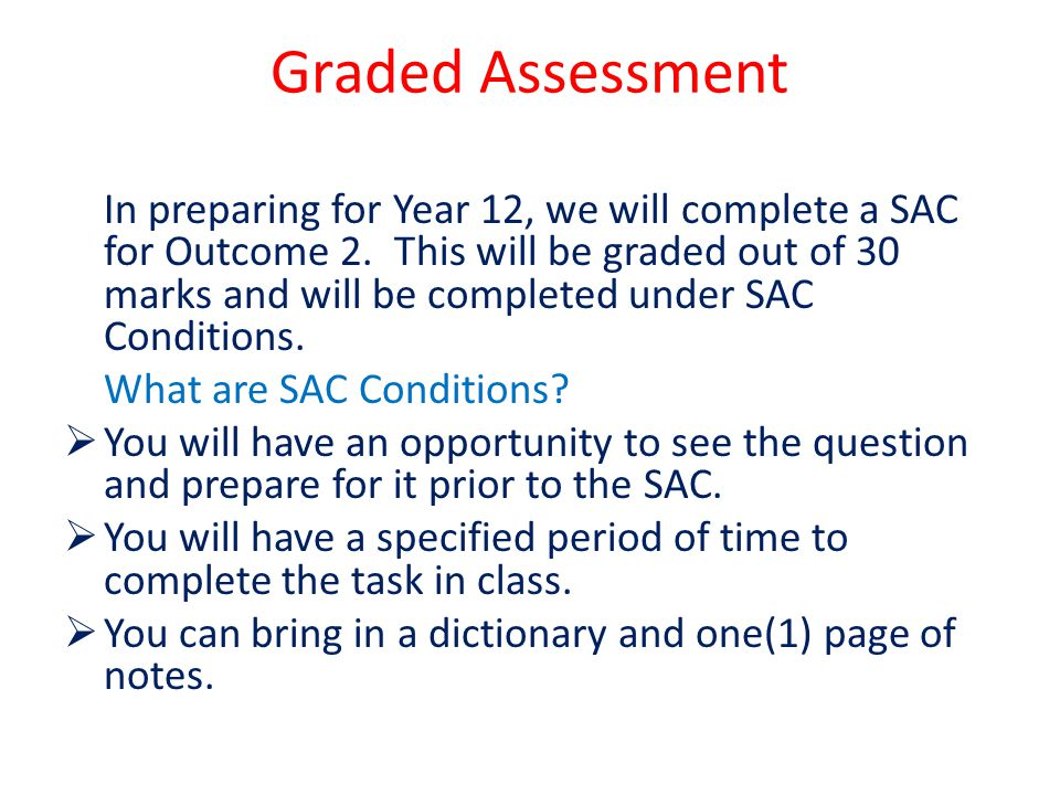 Graded Assessment
