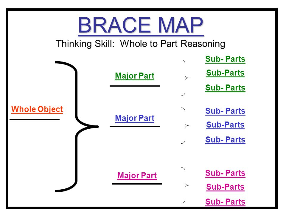 BRACE MAP Thinking Skill: Whole to Part Reasoning