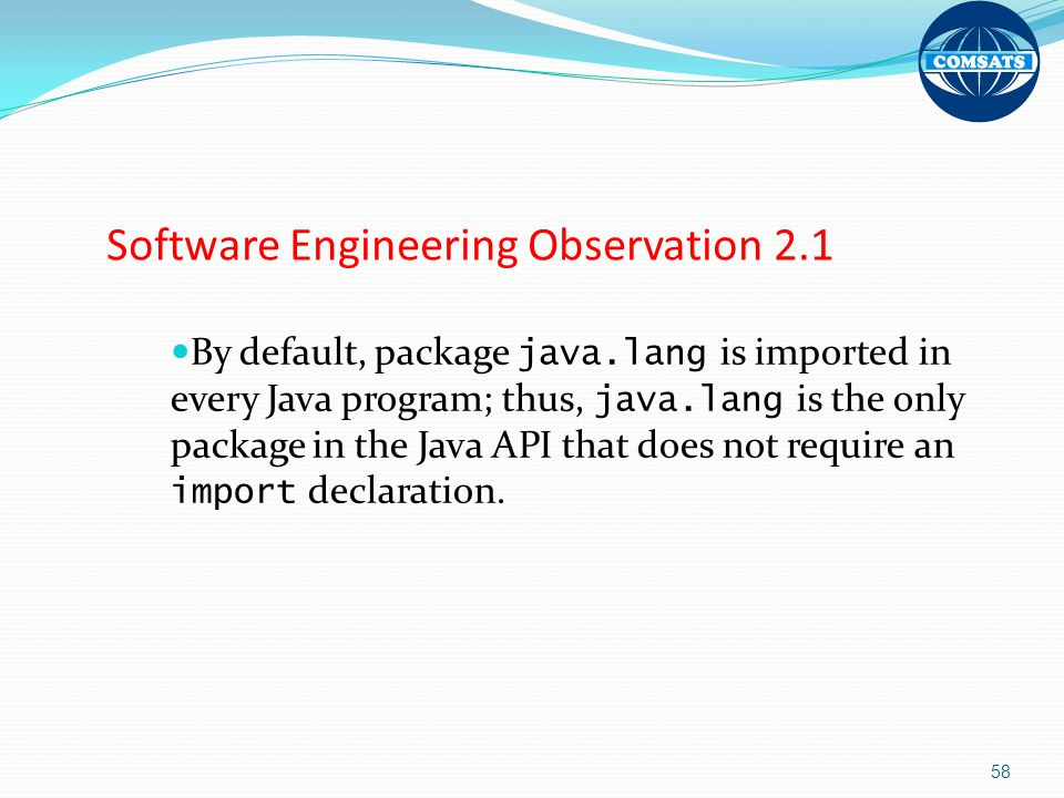 Software Engineering Observation 2.1