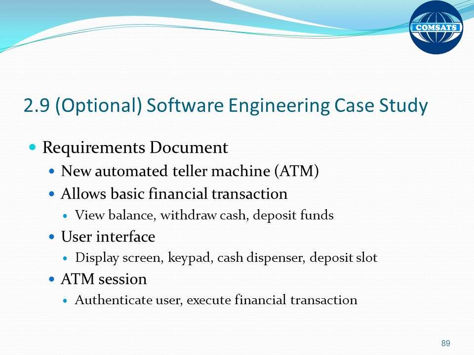 2.9 (Optional) Software Engineering Case Study