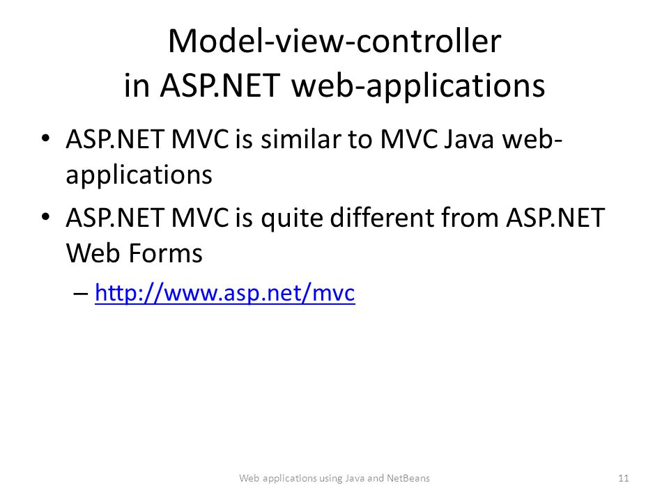 Model-view-controller in ASP.NET web-applications