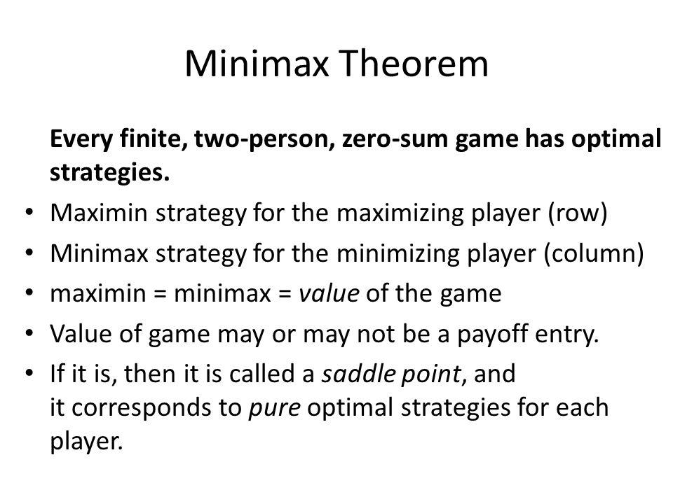 optimal row strategy