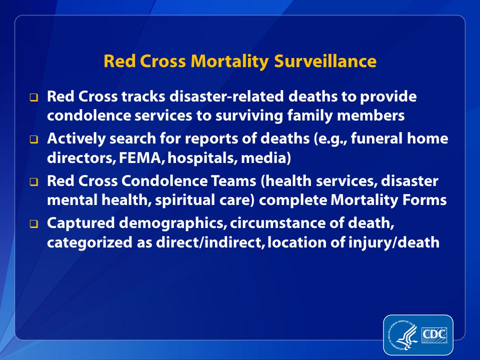 Red Cross Mortality Surveillance
