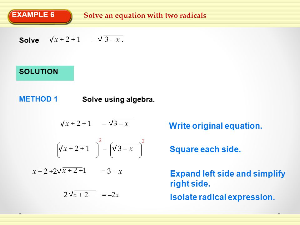 Write original equation.
