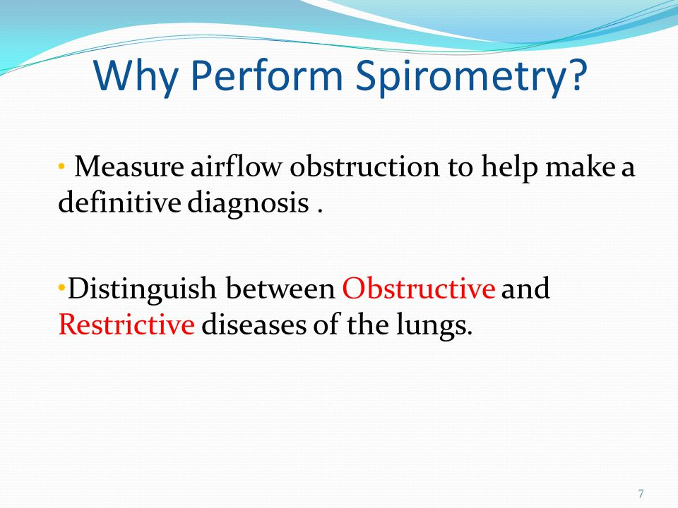 Why Perform Spirometry
