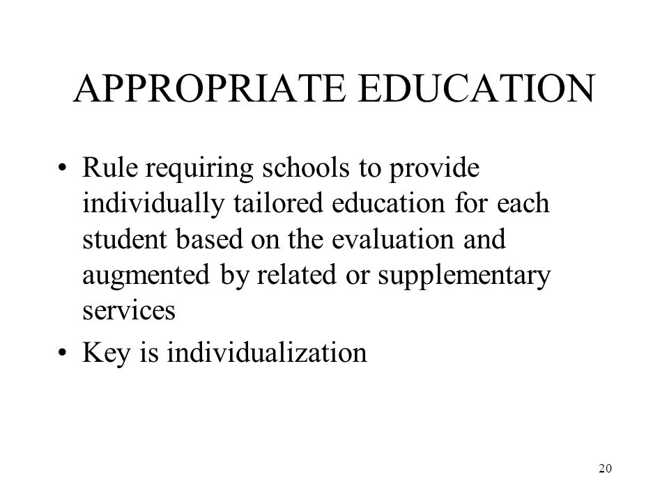 What Is Appropriate Education For >> Introduction To Special Education And The Six Principles Ppt Video