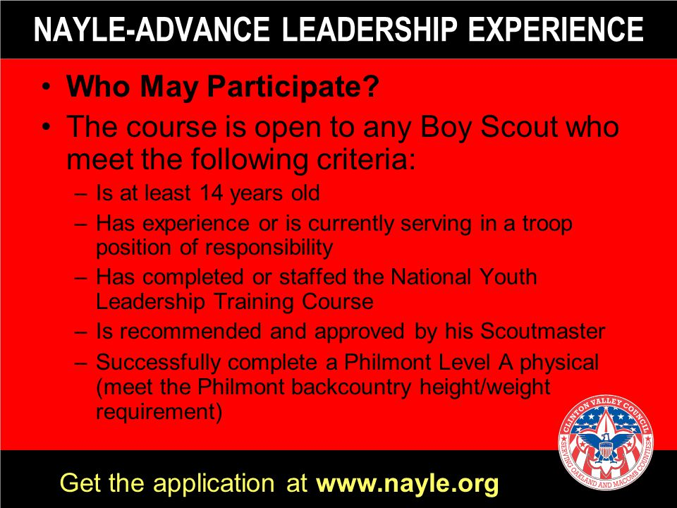 NAYLE-ADVANCE LEADERSHIP EXPERIENCE