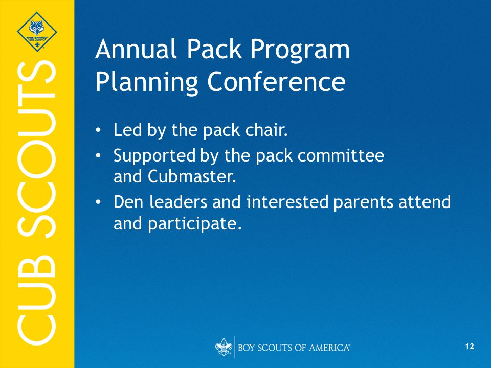 Annual Pack Program Planning Conference