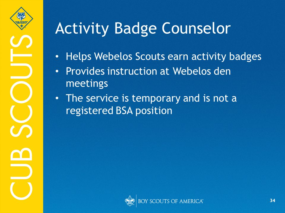 Activity Badge Counselor