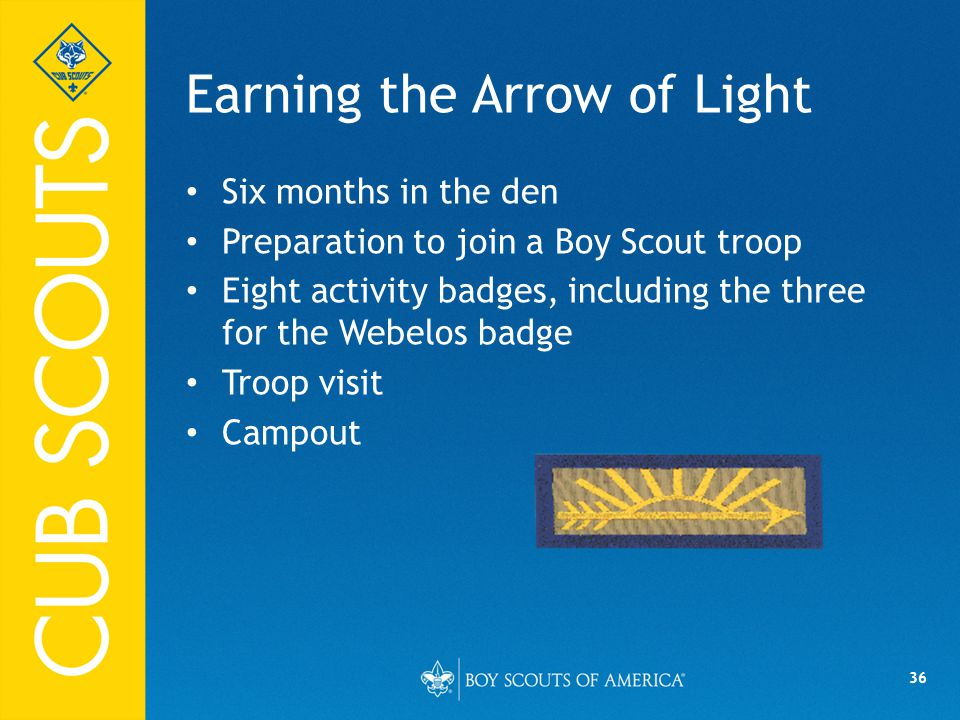 Earning the Arrow of Light