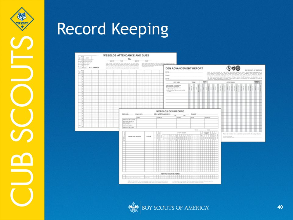 Record Keeping Say (in your own words):