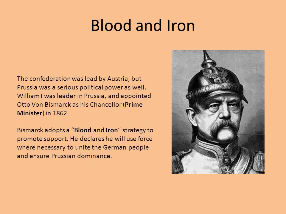 blood and iron policy