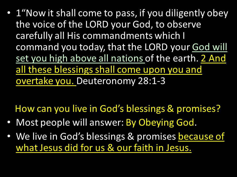 How can you live in God's blessings & promises