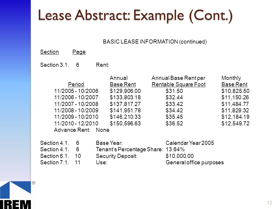 Lease Administration Commercial Property Ppt Download