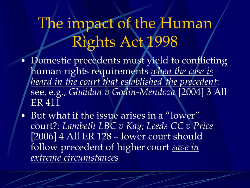 The impact of the Human Rights Act 1998