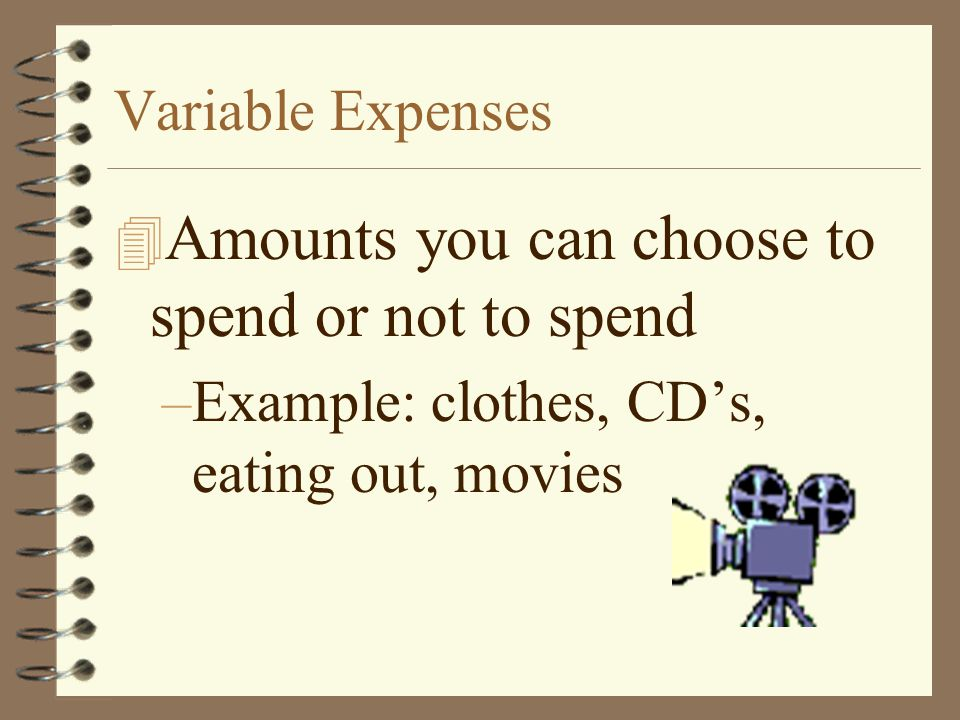 Amounts you can choose to spend or not to spend