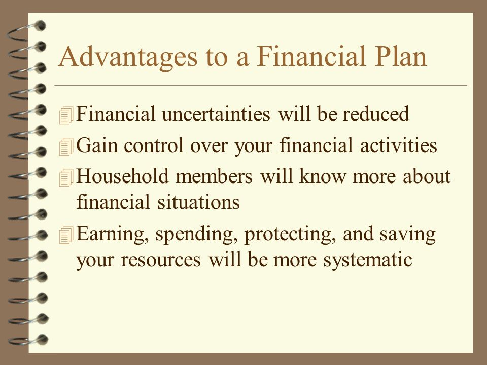 Advantages to a Financial Plan