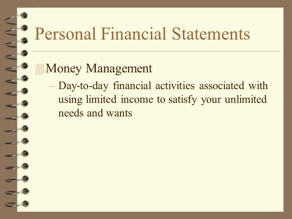 Personal Financial Statements