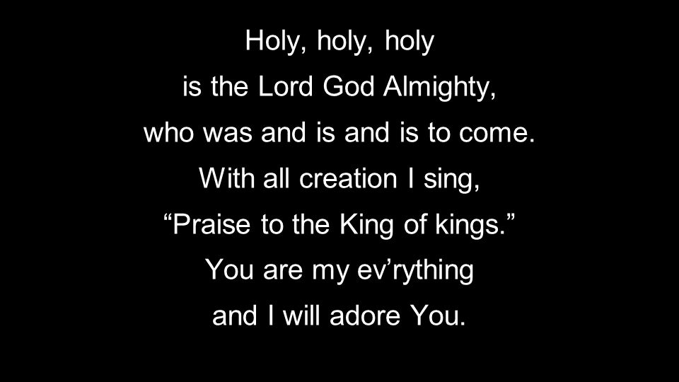 is the Lord God Almighty, who was and is and is to come.
