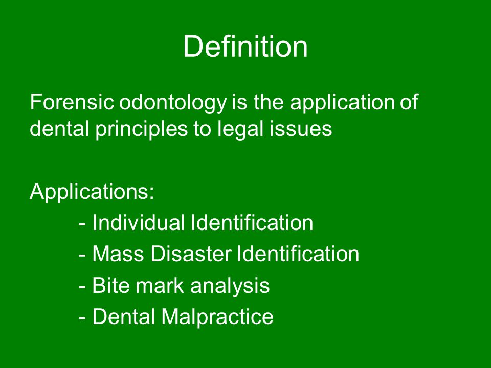 Case Study Cse 891 Forensic Odontology Ppt Video Online Download